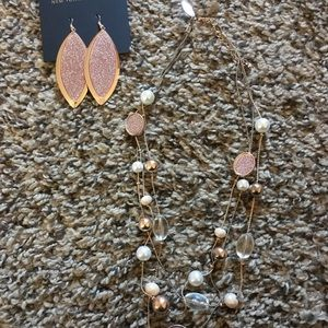 New York & Company matching earrings and necklace